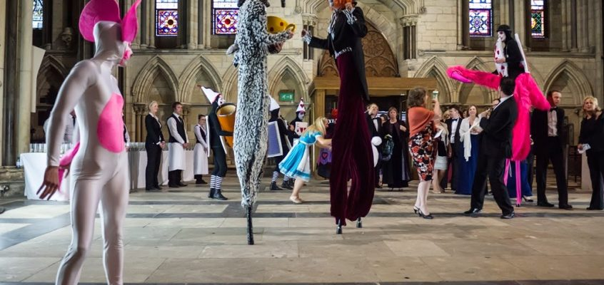 Alice in Wonderland Themed Entertainment- Produced for the York Minster's Rose Gala Diner