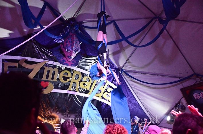 Jelly Jazz Circus – A site specific performance tent at the Porthleven Masked Ball